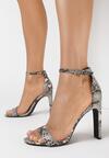 Brązowe Wężowe Sandały Ridiculous