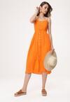 Pomarańczowa Sukienka Homoatomic