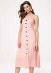 Jasnobeżowa Sukienka Homoatomic
