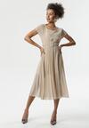 Jasnobeżowa Sukienka Nucleon