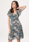 Niebieska Sukienka Isotope