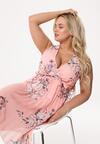 Łososiowa Sukienka Little Garden