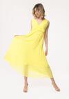 Żółta Sukienka Neoclassicism