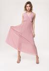 Ciemnoróżowa Sukienka Neoclassicism