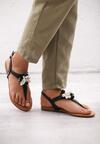 Czarne Sandały Rasina