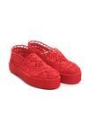 Czerwone Slip On Beam