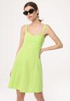 Jasnozielona Sukienka Chasse