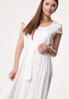 Biała Sukienka Busticate