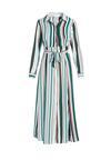 Biało-Zielona Sukienka Bachata