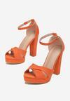 Pomarańczowe Sandały Found U