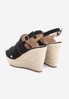 Czarne Sandały Convulse