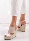 Beżowe Sandały Advertise