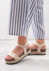 Beżowe Sandały Forty