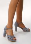 Niebieskie Sandały Attention