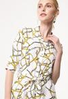 Biało-Żółta Sukienka Uncorrupt