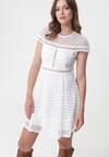 Biała Sukienka Unobtrusive