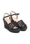 Czarne Sandały Hamper