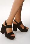Czarne Sandały Hurdle