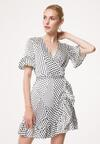 Biała Sukienka Palpitate