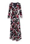 Czarno-Czerwona Sukienka Leisure