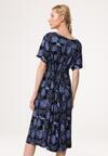 Czarno-Niebieska Sukienka Grassy