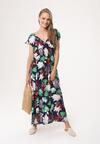 Granatowa Sukienka Sun-Drenched