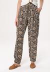 Czarno-Granatowe Spodnie Get On The Line