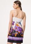 Biało-Fioletowa Sukienka Instinctive