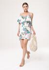 Biała Sukienka Dermatography