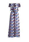 Granatowo-Niebieska Sukienka Fleeting Flower