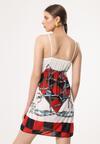 Czarno-Czerwona Sukienka Unacquired