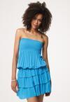 Niebieska Sukienka Punch In