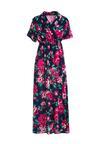 Granatowa Sukienka Floral Joy