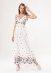 Biała Sukienka A Storm Of Colors