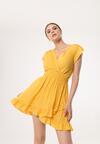 Żółta Sukienka Effloresce