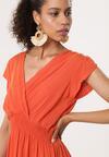 Pomarańczowa Sukienka Effloresce