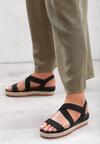 Czarne Sandały Bendable