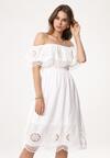 Biała Sukienka Glower