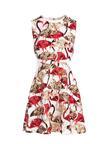 Biało-Czerwona Sukienka Avenue Of Flowers