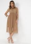 Ciemnobeżowa Sukienka Describi