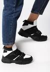 Czarno-Białe Sneakersy Breathing Space