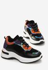 Czarno-Pomarańczowe Sneakersy Corn Lily
