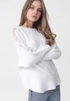 Biały Sweter Octavia