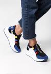 Czarno-Niebieskie Sneakersy Jayda