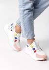 Biało-Różowe Sneakersy Jayda