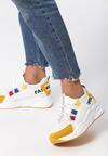 Biało-Żółte Sneakersy Jayda