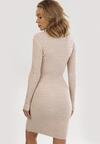 Jasnobeżowa Sukienka Belen