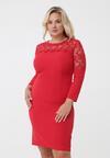 Czerwona Sukienka Grazia