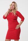 Czerwona Sukienka Leandra