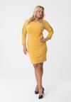 Żółta Sukienka Georgette